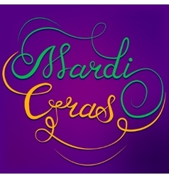 Mardi gras calligraphic text vector
