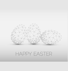 Minimalistic geometric happy easter card vector