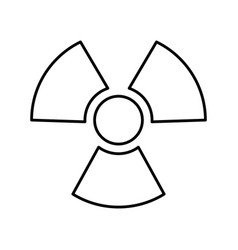 nuclear plant isolated icon vector image