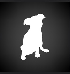 puppy icon vector image