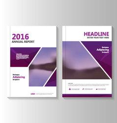 Purple annual report leaflet brochure flyer vector
