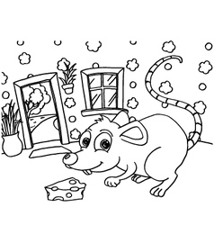 Rat colouring pages vector