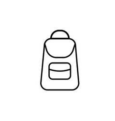 school backpack icon vector image