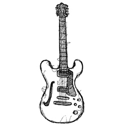 scribble series - guitar vector image