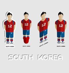 South korea soccer team sportswear template vector