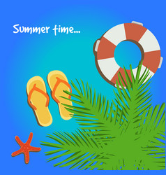summer postcard vector image