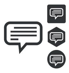 Text message icon set monochrome vector