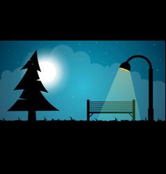 travel night cartoon landscape fir moon shop vector image vector image