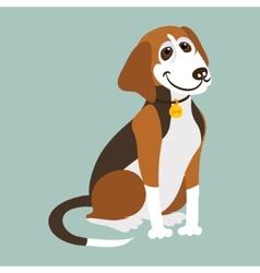 Yugoslavian tricolor hound vector