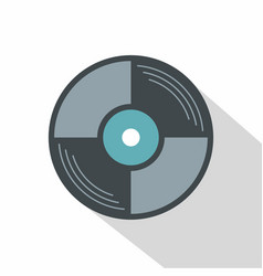 vinyl disk icon flat style vector image