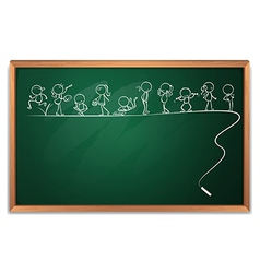 A blackboard with a doodle art vector