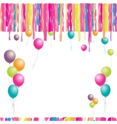 Happy birthday balloons and confetti vector