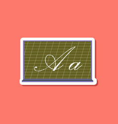 paper sticker on stylish background blackboard vector image