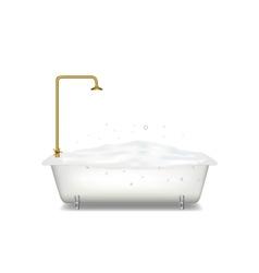 Bath with soap vector