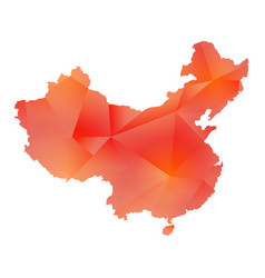 Map of china polygon vector