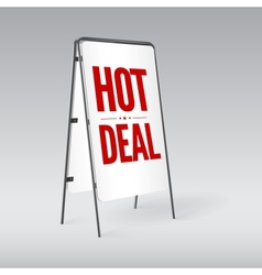 Pavement sign with the text Hot deal vector image