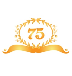75th anniversary banner vector
