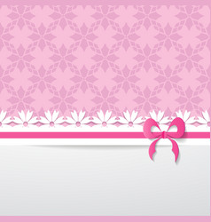 pink greeting card vector image