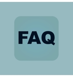 Pale blue faq icon vector