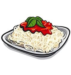 spaghetti pasta vector image