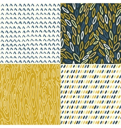 Hand Drawn Seamless Patterns vector image
