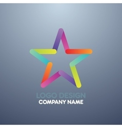 Logo design star vector