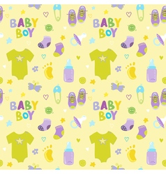 Baby boy background - seamless pattern vector