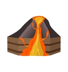 Volcano section vector