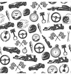 Racing emblems pattern vector