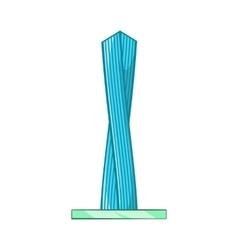 Emirates tower icon cartoon style vector