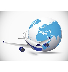 Airliner with globe vector image vector image