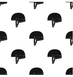 Army helmet icon in black style isolated on white vector