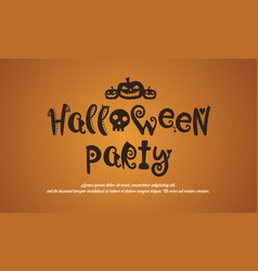 Background of halloween party collection vector