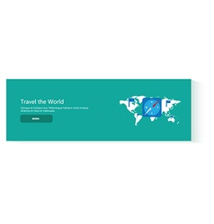 banner travel the world vector image