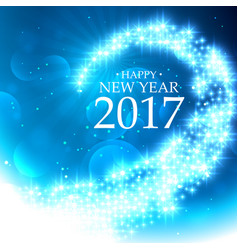 Beautiful glitter style happy new year background vector