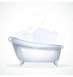 Blue bathroom vector image