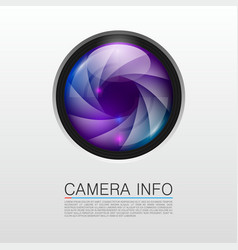 camera info banner vector image vector image