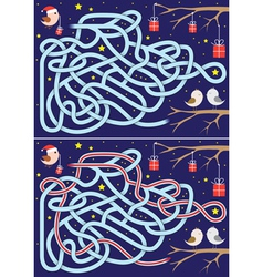 Christmas maze vector