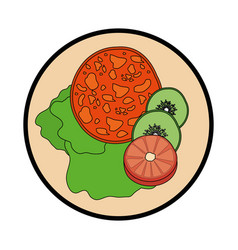 Delicious salad food vector