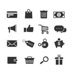 E-commerce shopping icons set vector image