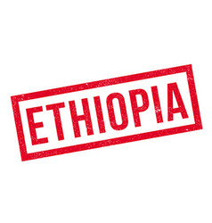 Ethiopia rubber stamp vector