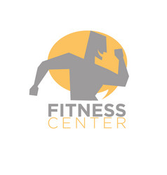Fitness center logo design of silhouette running vector