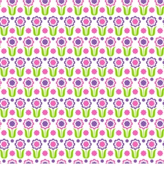 Flower pattern vector image vector image