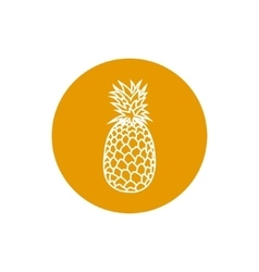 Icon Pineapple in the Contours vector image