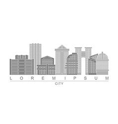 Logo skyscrapers of metropolis City with high vector image