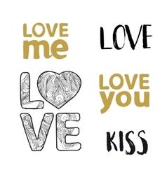 Love lettering set vector