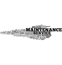 Maintenance word cloud concept vector