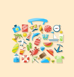 Modern of suitcase is made from a set flat icons vector image vector image