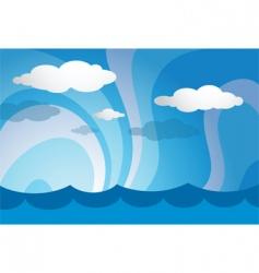 ocean template vector image vector image