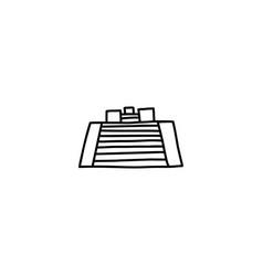 pyramid cartoon icon vector image